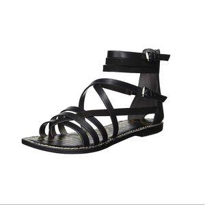 NWT Sam Edelman Ganesa Black Leather Sandal 8.5